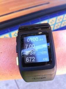 Finished up the 7 miler (I love my Nikeplus running watch BTW - OBSESSED)